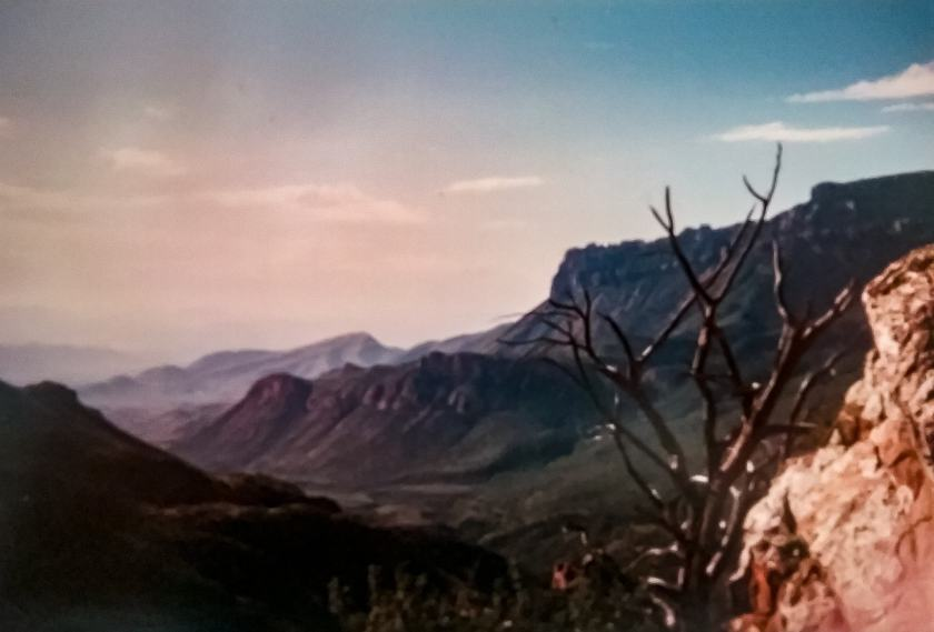 1990 Vintage ppview of Lost Mine Trail