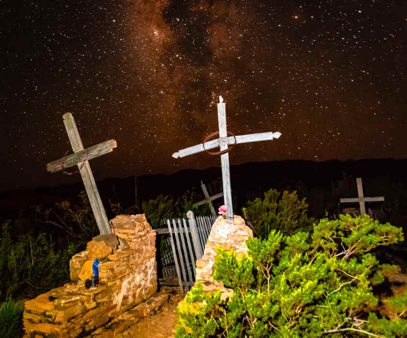 Terlingua cemetery and the milky way
