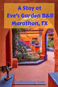 Experience the colorful Eve's Garden B&B in Marathon, TX #evesgarden #texas #marathontexas #b&b
