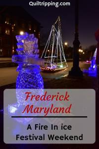 The Frederick Fire In Ice Festival is a fun way to experience a fun weekend in this cute town #frederick #maryland #fireinice