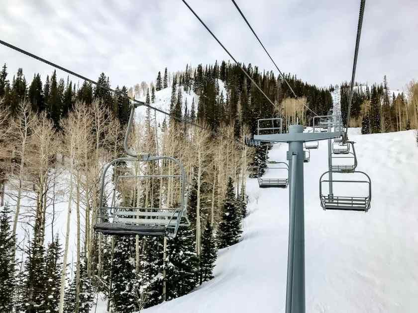 Empt lifts at Park City during Sundance