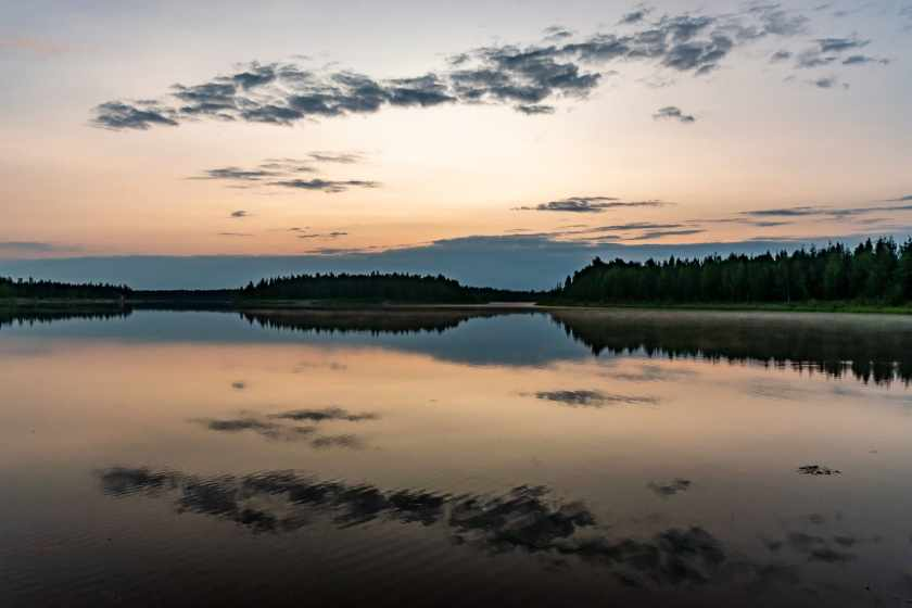 midnight at the Chena Lakes Recreation Area