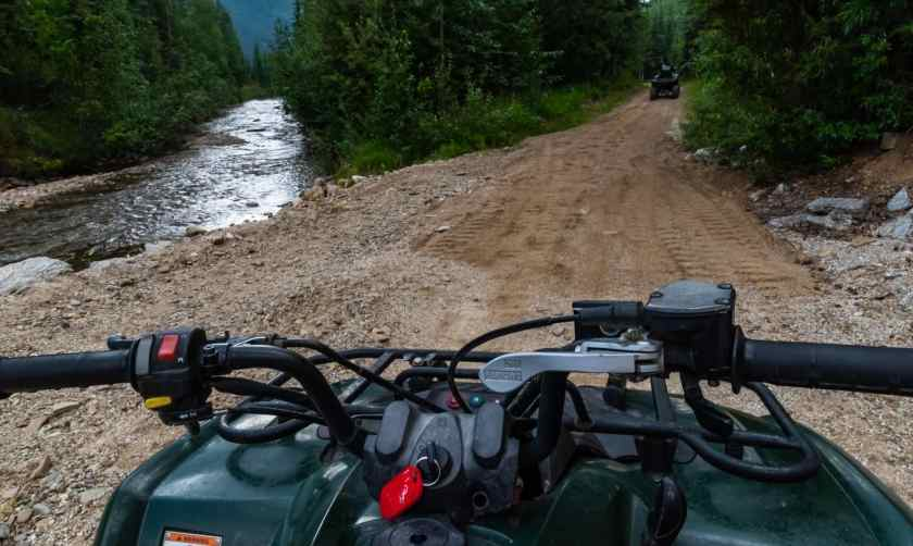 ATV ride at Chena Hot Springs Resort
