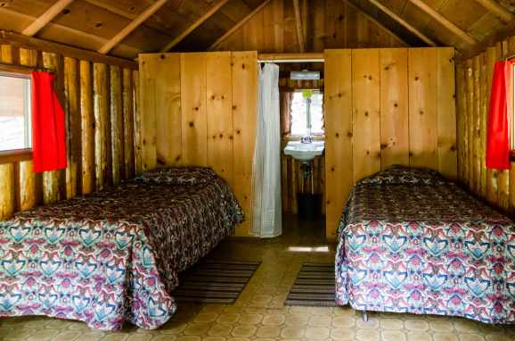 The inside of my cabin