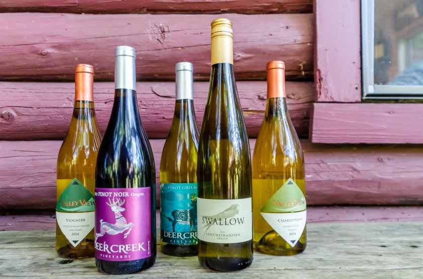 Serving local Oregon wines