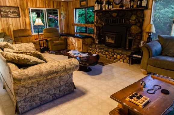 The cofortable living area at Marial Lodge