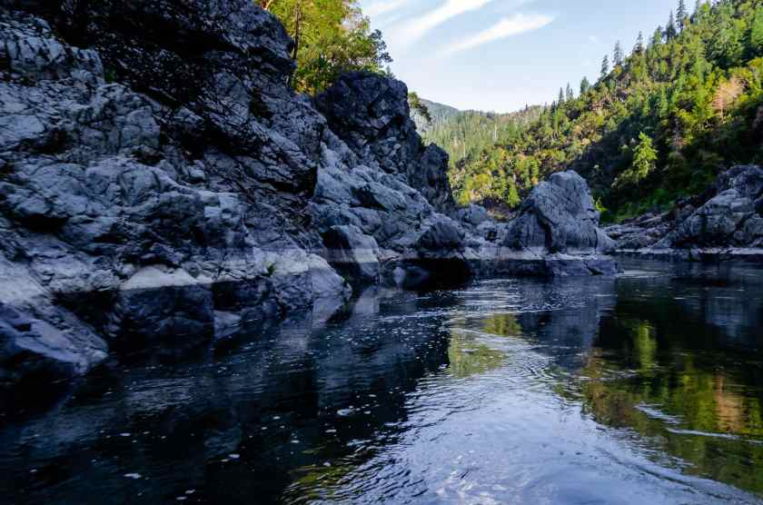 The stunning scenery on the rogue River