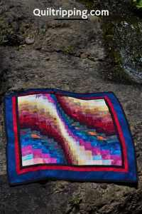 Sharing my first bargello quilt design #quilt #bargello #bargelloquilt