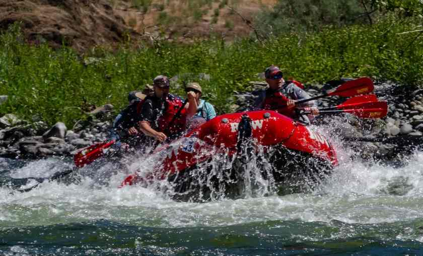 Going through one of the rapids on the Rogue River