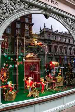 A window at Fortnum and Mason