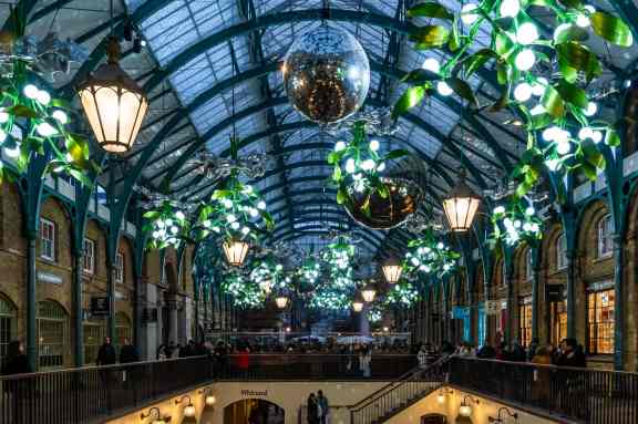 Covent Garden decorated for Christmas