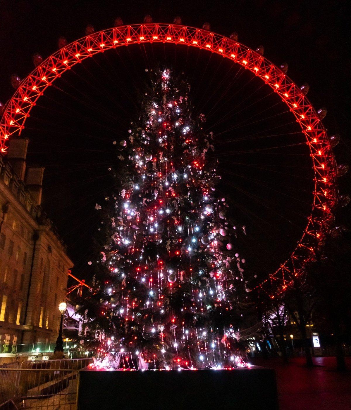 Christmas tree and the London Eye