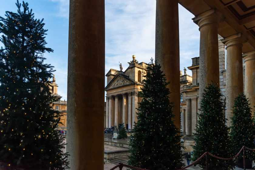 Blenheim Palace decorated for Christmas