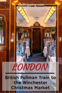 Experience the golden age of travel on the British Pullman to the Winchester Christmas market and get into the holiday spirit #britishpullman #winchester #christmasmarket
