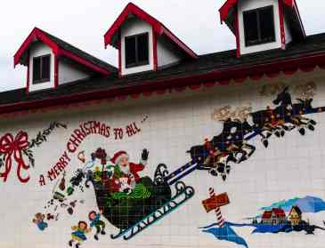 The Santa Claus House in North Pole, Alaska