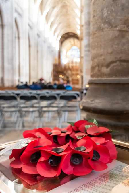 Remembering the veterans At Winchester Abbey