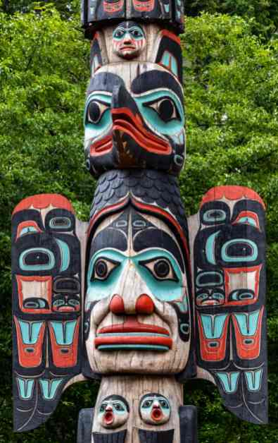 One of the many totem poles