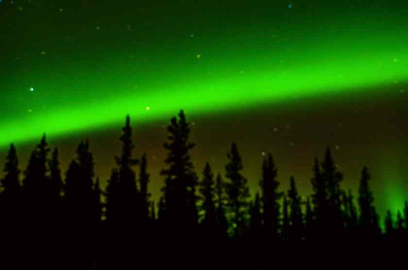 Our first view of the Northern Lights