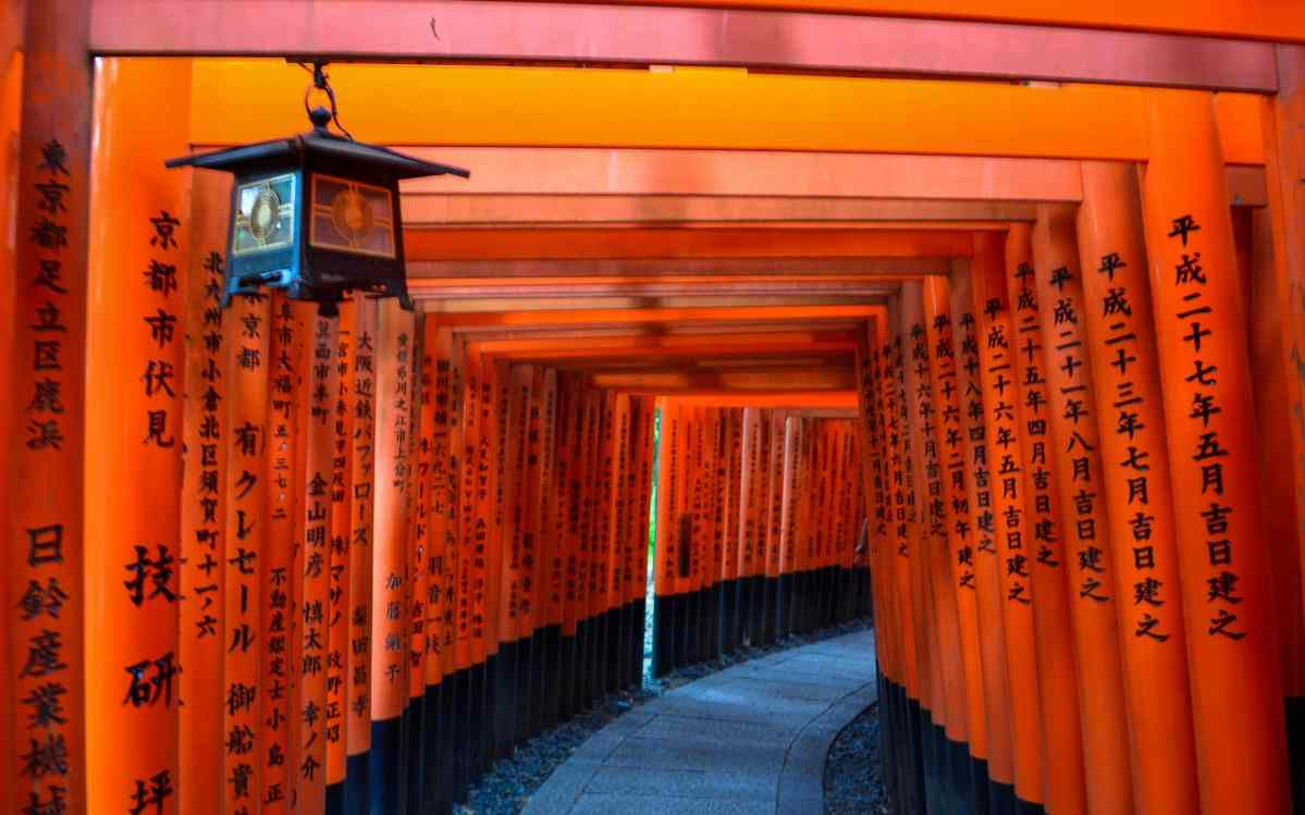 Tori gatess in Kyoto
