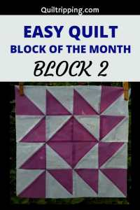 Sharing block 2 of my easy quilt block of the month program