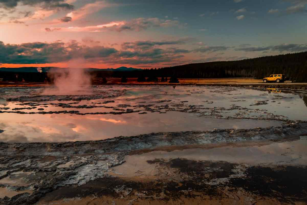 Great Fountain Geyser at Yellowstone National Park