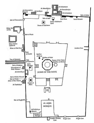 Map of Temple Mount 1