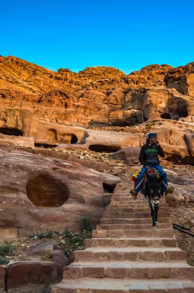 donkey rider in Petra