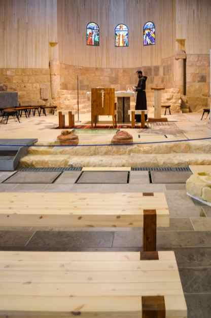 inside the church at Mt. Nebo