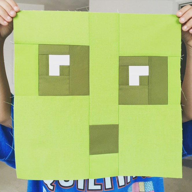 Minecraft Quilt - Block 20 - Slime