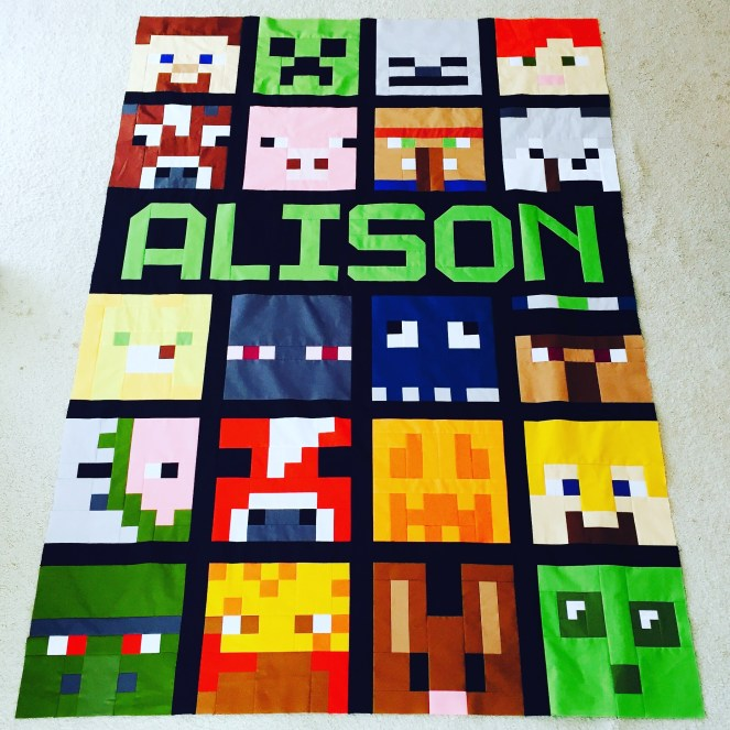 Minecraft Quilt - Top Almost Complete