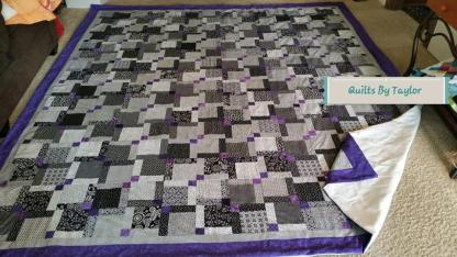 Black and White Quilt for Sale