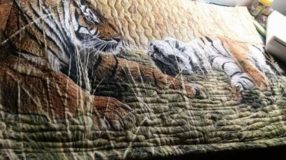 quilted pillow sham Tiger pillow