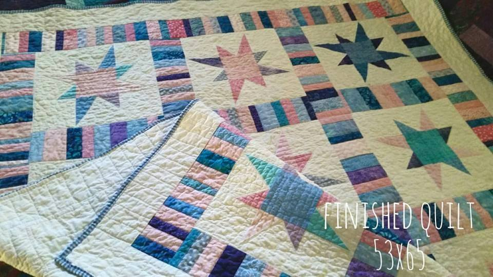 Handmade Lap Size Quilt, Throw Size Quilt, Finished Quilt 53 X 65 : quilt throw - Adamdwight.com