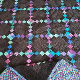 irish chain quilt, Black quilt