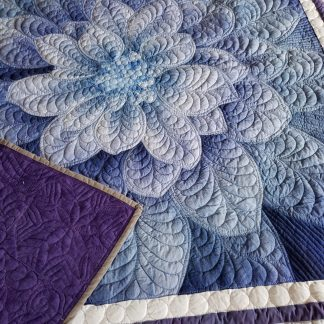 purple flower quilt
