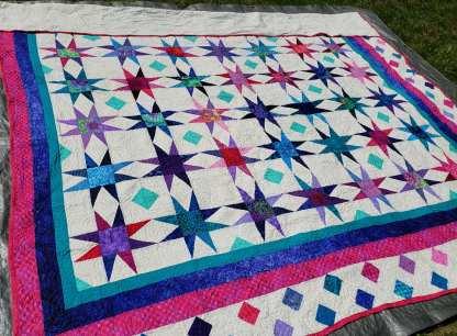 modern star quilt, quilt for sale