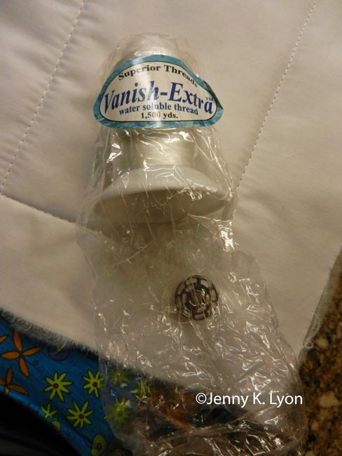 Water soluble thread top and bobbin