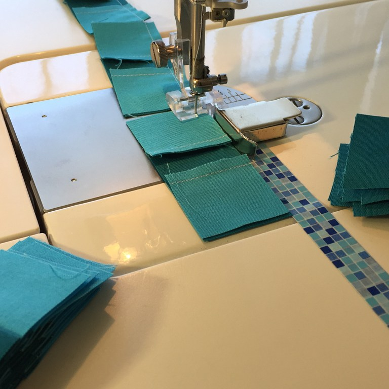 Units being sewn together