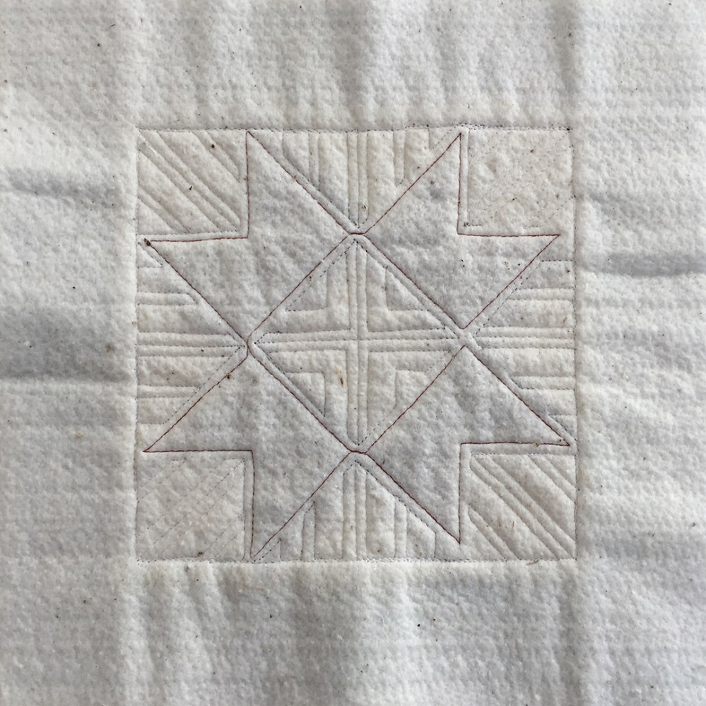 quilted lines on batting