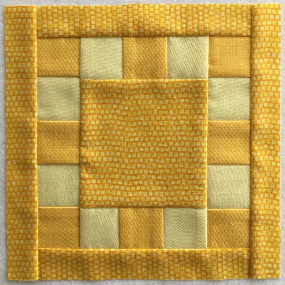 quilt block in yellow