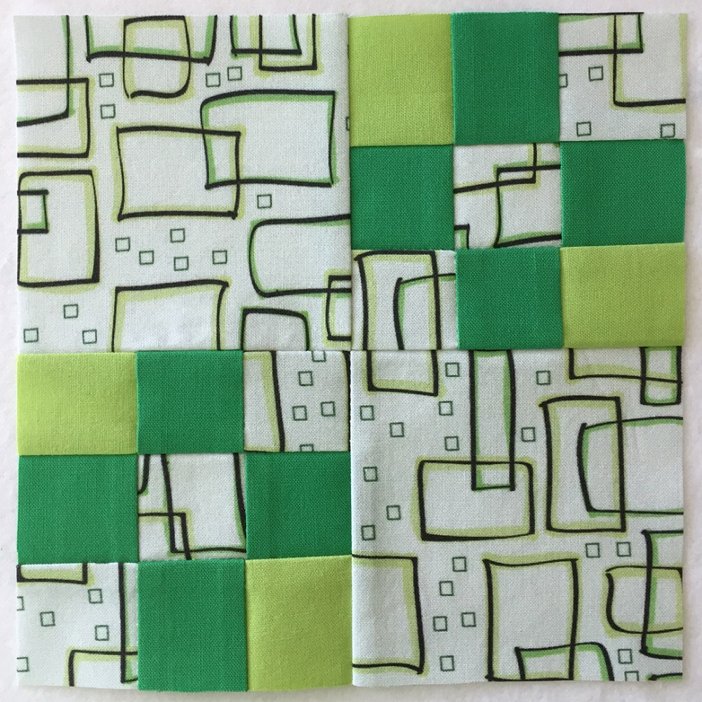 quilt block in green