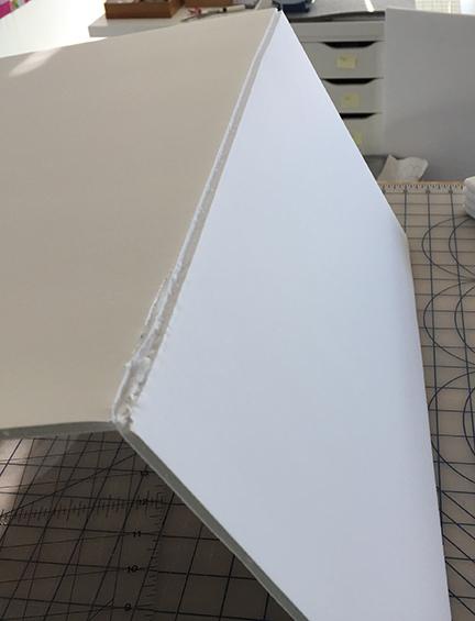 Partially cut foam board