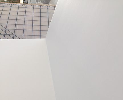 Folding the foam board back