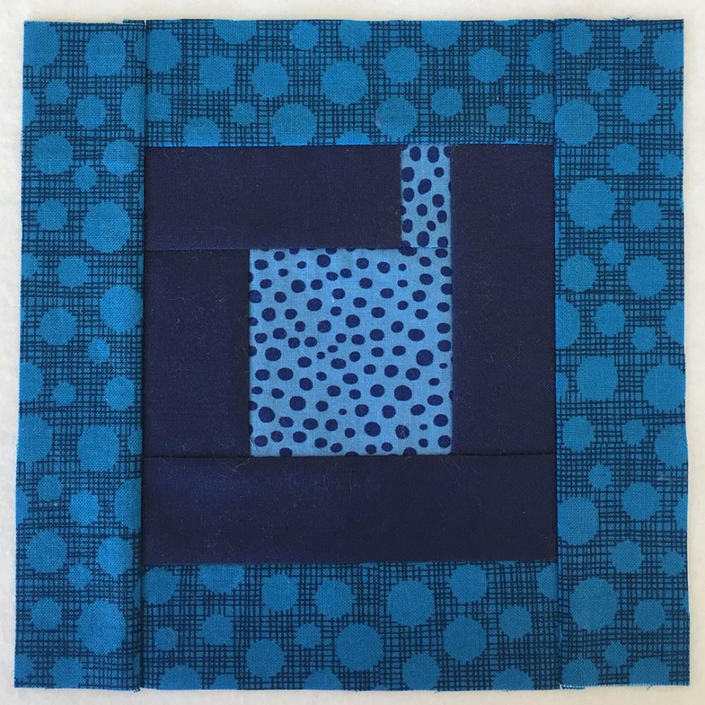 quilt block in dark blue
