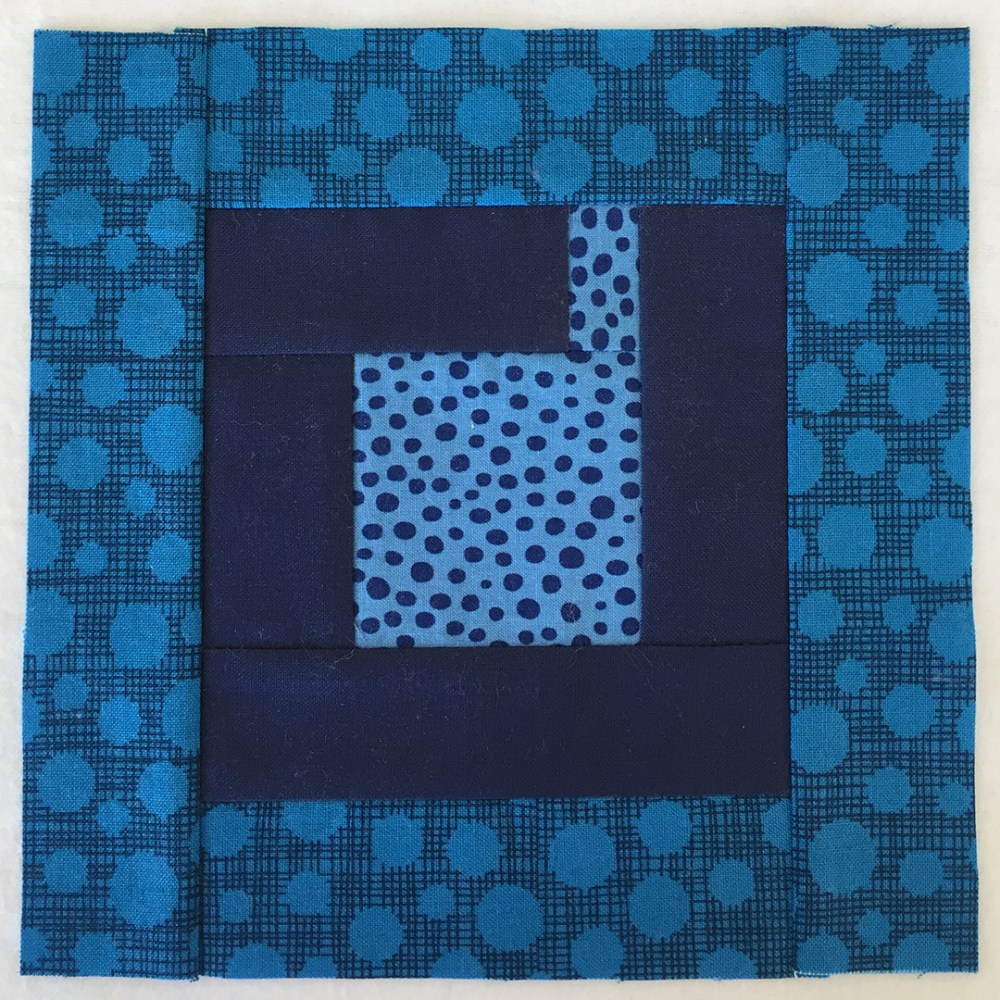 quilt block in dark blue
