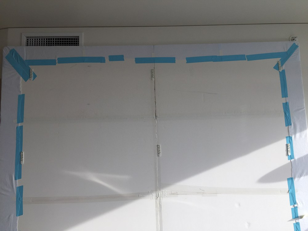 Back of the design wall