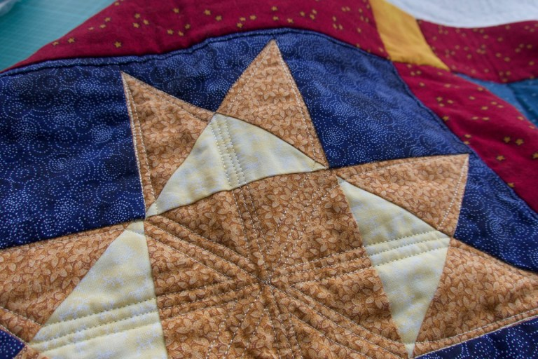 Quilting that looks slightly better than some of the other quilting in this post