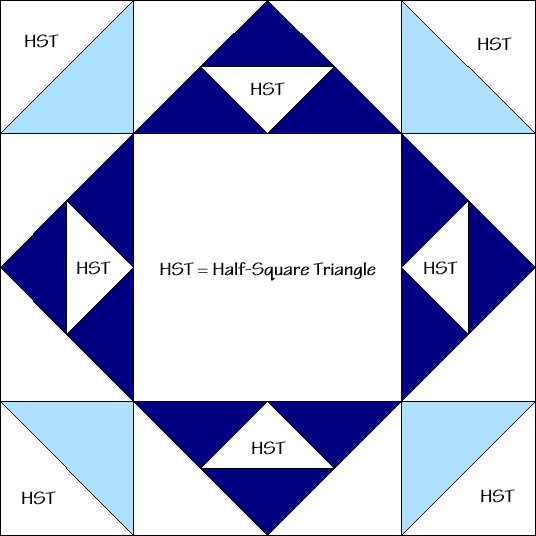 Flower Pot Quilt Block Diagram