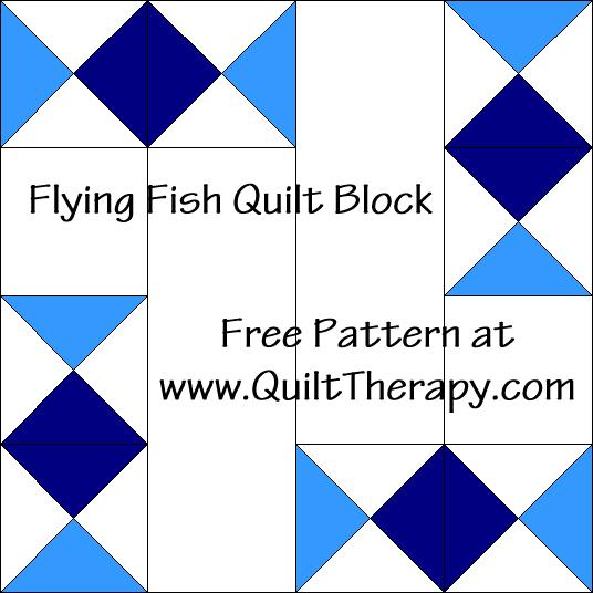 Flying Fish Quilt Block