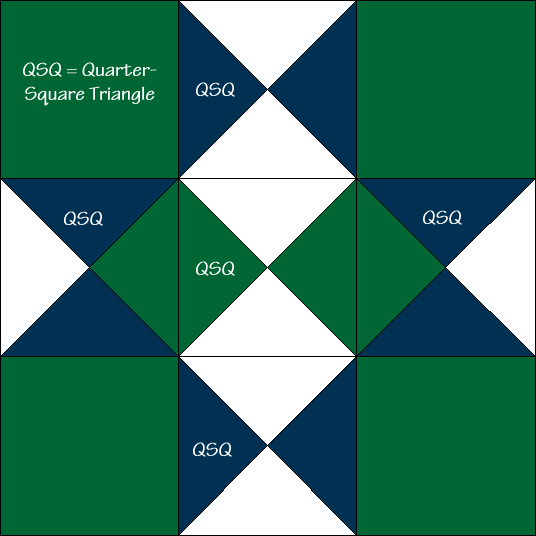 Midnight Star Quilt Block Diagram Free Pattern at QuiltTherapy.com!